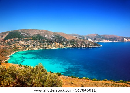Landscape with sea view - stock photo