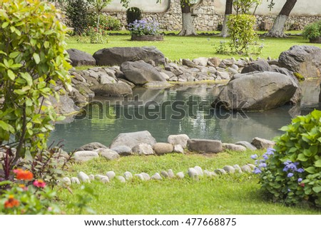 Artificial ponds stock images royalty free images for Artificial pond in garden