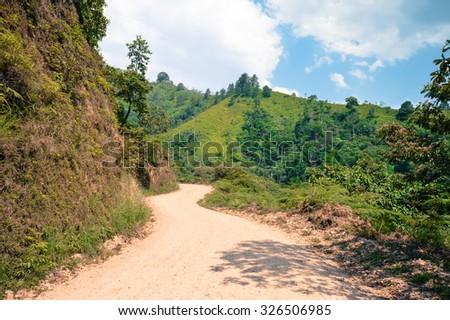 Landscapes around the highlands of Taulabe and Cerro Azul national park near Lake de Yojoa, Western Honduras - stock photo