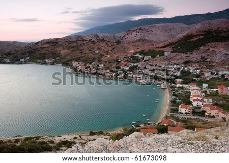 Landscapes in Croatia - stock photo
