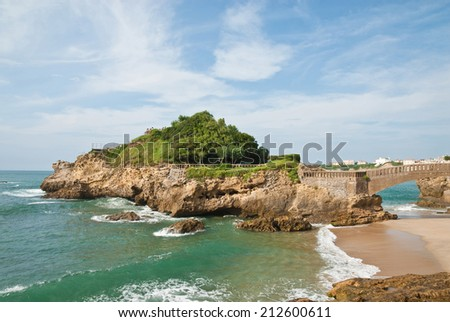 Landscapes of Biarritz, France   - stock photo