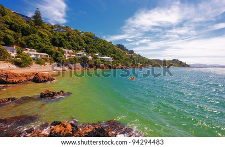 Landscapes of New Zealand - North Island - stock photo