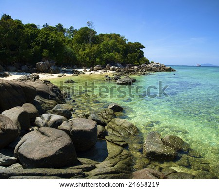 Landscapes of the Adaman sea, to the Lipe, Thailand