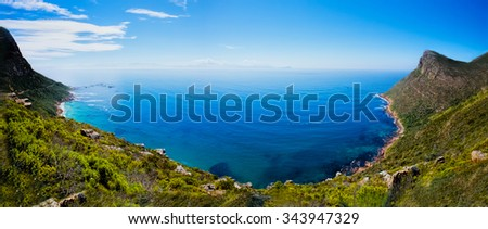 Landscapes of the Cape Point , South Africa - stock photo