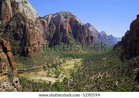 Landscapes of Zion National Park in Utah, USA - stock photo
