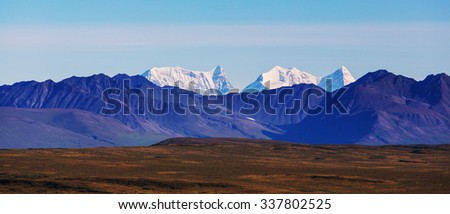 Landscapes on Denali highway, Alaska.  - stock photo