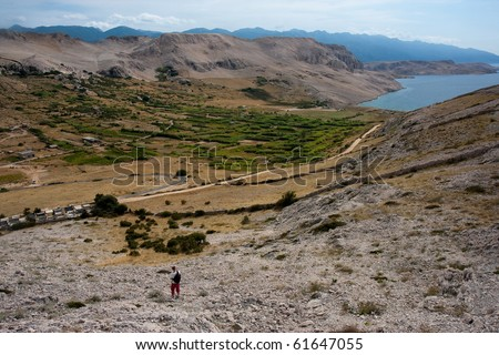 Landscapes on Pag island, Croatia