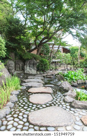 Landscaping and decorate garden japan style, Tokyo, Japan.