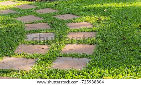 Landscaping Garden Path Garden Designed Walkway Stones Stock Photo (Royalty  Free) 725938804   Shutterstock
