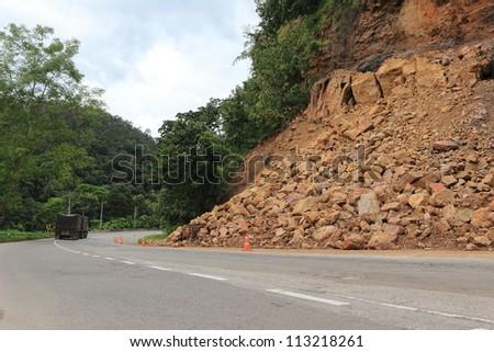 Landslide - stock photo