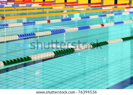 Lane are limited floats in  swimming pool - stock photo