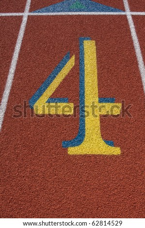 Lane Number Four of a Track