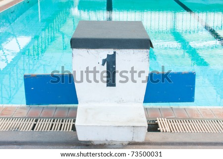 Lane swimming pool Origin of the pool. - stock photo