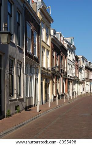 Lane-way in Utrecht, Netherlands - stock photo