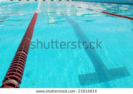 lanes of sport swimming pool, turquoise water