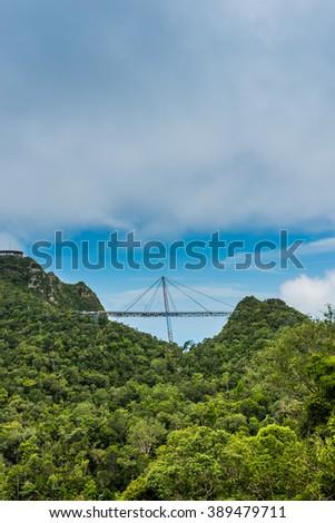 Langkawi skybridge scenic view - stock photo