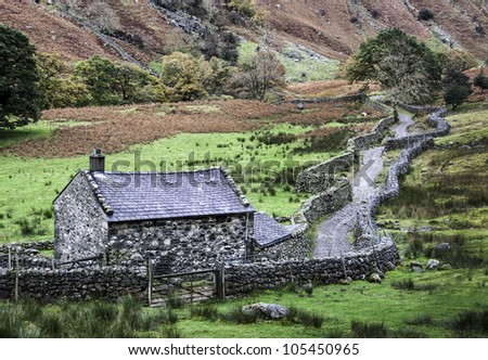 Langstrath Valley Path - stock photo
