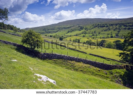 Langstrothdale in Yorkshire Dales North Yorkshire England - stock photo