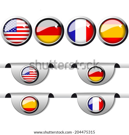 language pointer for web - english, german, france, spanish