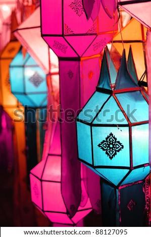 Lanna lantern festival decoration - stock photo