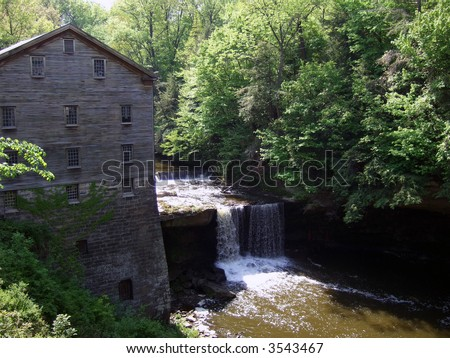 Lanterman's Mill in Mill Creek Park, Ohio - stock photo
