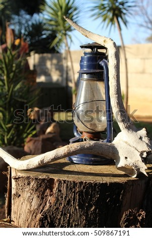 Lantern and skull objects