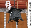 Lantern at a Japanese Temple - stock photo
