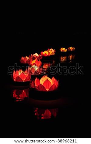 Lantern Festival kratong - stock photo