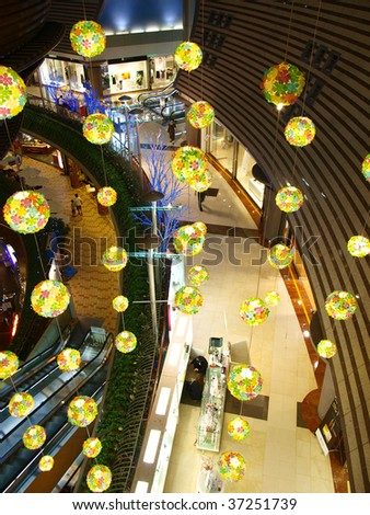 Lantern in department store - stock photo