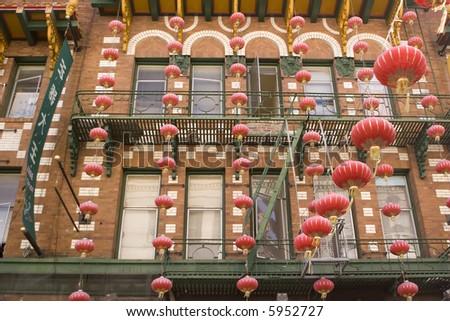Lantern Lines - stock photo