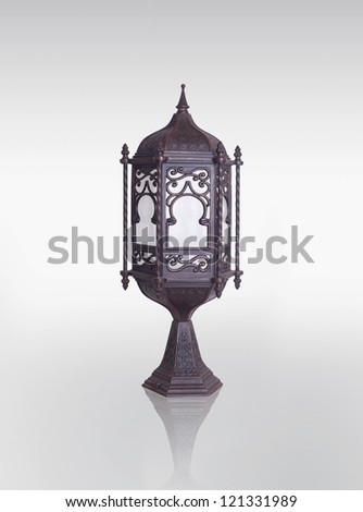 Lantern / Ramadan Lamp concept, Clipping path included - stock photo
