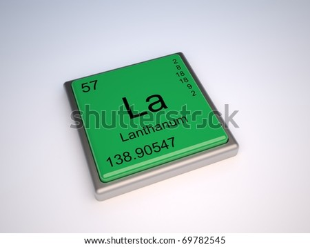 Lanthanum chemical element of the periodic table with symbol La