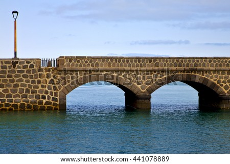 lanzarote  bridge and the blue sky