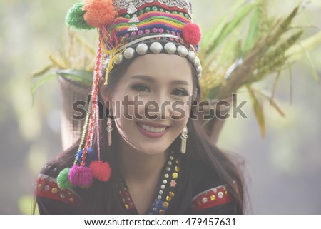 Lao hill tribe woman