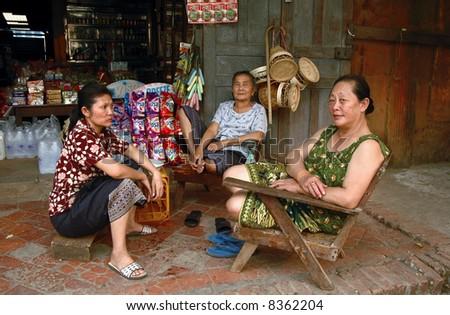 Lao woman - stock photo