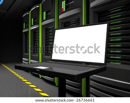 Lap copyspace - stock photo