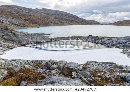 Lapland - Landscape in Autumn - stock photo