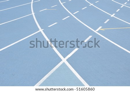 laps in the race field - stock photo