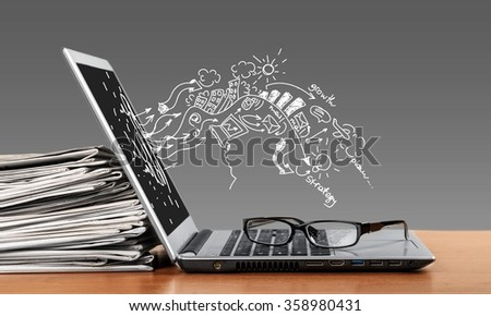 Laptop. - stock photo