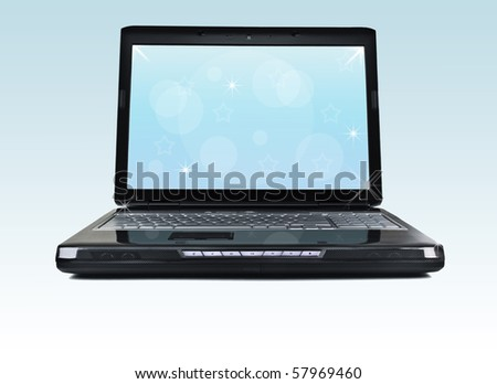 Laptop - stock photo