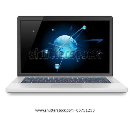 Laptop and Globe concept.