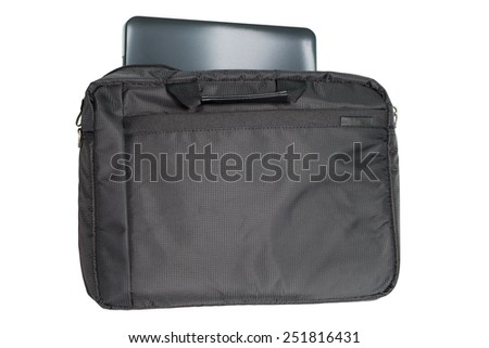 laptop bag with laptop