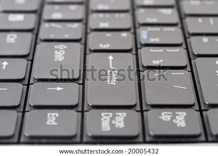 Laptop Black Keyboard Symbols On Button Stock Photo 20005432