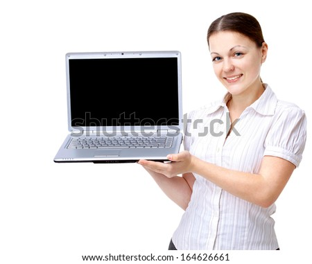 Laptop Businesswoman  - stock photo