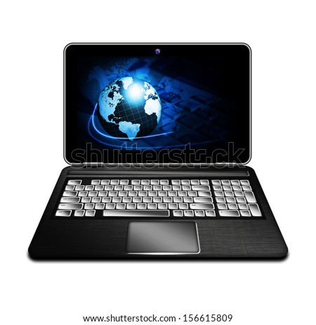 laptop computer isolated over white background