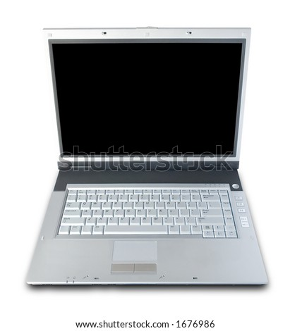 Laptop Computer Isolated Over White (clipping path included)