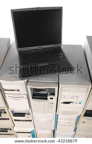 laptop costs on many old computers case. The top view