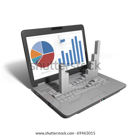 Laptop - Diagram - stock photo