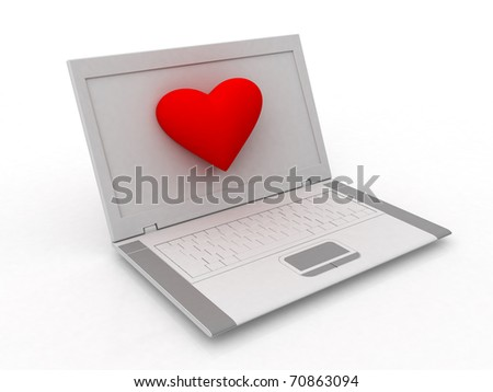 laptop heart