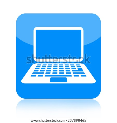 Laptop icon - stock photo